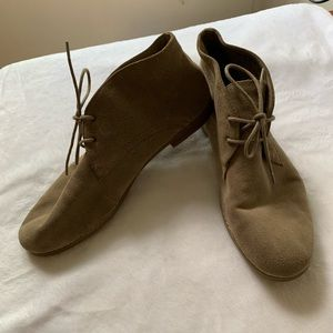 Franco Sarto Suede Lace-up Ankle Booties